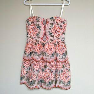 NWT BCBG Embroidered Floral Garden Dress